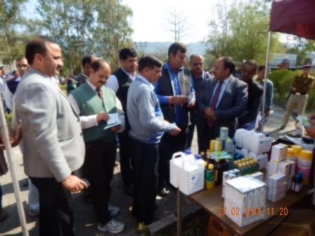Hon. Chairman Zila Panchayat & Director Animal Husbandry Inspecting Board Exhibition Stall