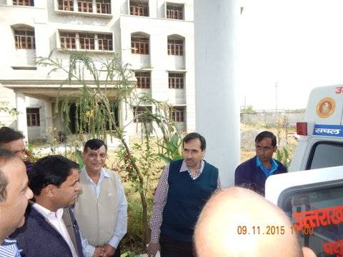 Inspection of Mobile Veterinary Van by Additional Chief Secretary, Dr. Ranbir Singh (I.A.S)