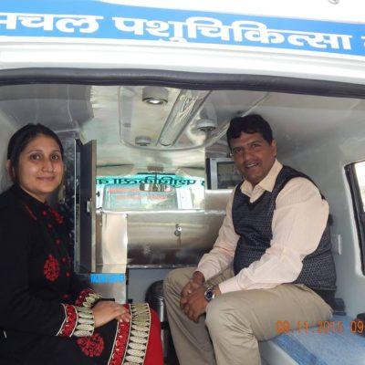 Interior of Mobile Veterinary Van