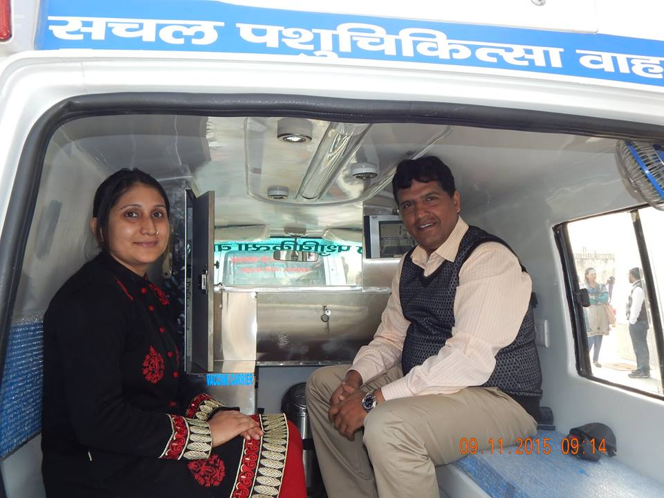 Interior of Mobile Veterinary Van