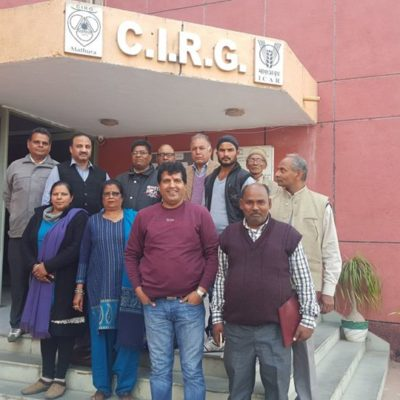 Training of Farmers At CIRG, Makhdoom, Mathura