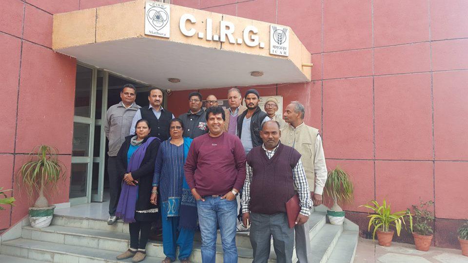 Training of Farmers At CIRG, Makhdoom, Mathura
