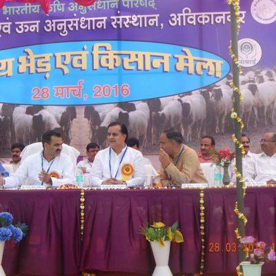 Sri Sanjeev Balyan, Hon. Minister of State, Govt. of India, at CSWRI, Avikanagar, Rajasthan