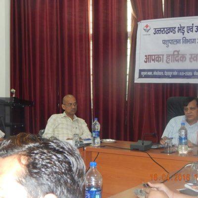 Goat Farmer's Meet, Chaired by Dr. Kamal Mehrotra, Director, Animal Husbandry, Uttrakhand
